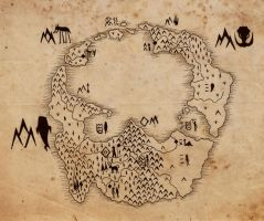 Map of Inhabited Land by LeshaOC