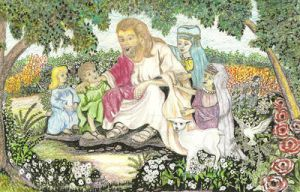 Jesus and the Children by Binary-Kid