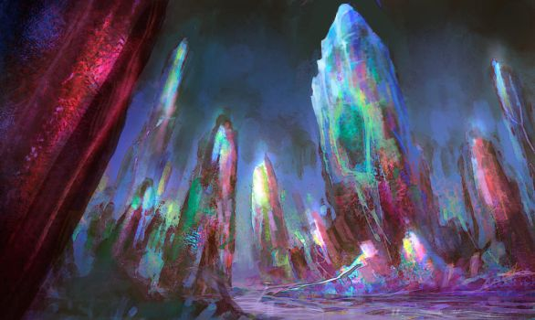 Crystal mine by elbardo