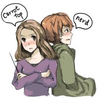 ron x hermoine by gridmoe