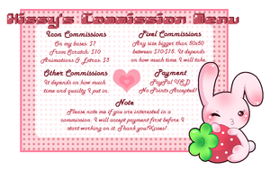 New Commission Menu by Kiss-the-Iconist