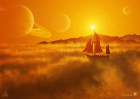 Solar Sailer (digital painting) by UnicatStudio