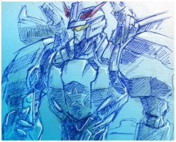 Doodle TFP Prowl by Aiuke