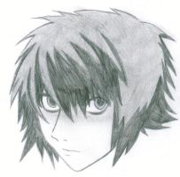 """L"" from Death Note by bccomics"