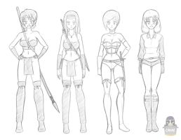 Canime Characters Concept Sketch by canime
