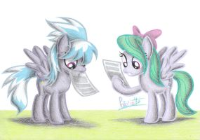 Cloudchaser and Flitter by Patoriotto