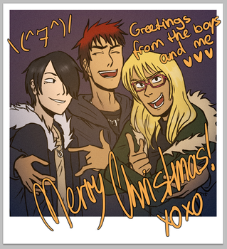 Greetings from the boys and me! by riotingcutlery
