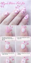 Lace Rose Print Nail Art Tutorial by VioletLeBeaux