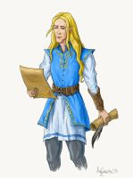 Finrod in Valinor by Artafindushka