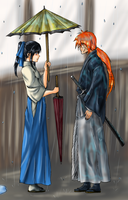 Kenshin and Kaoru - Colors by idelle