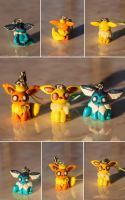 Eeveelution Cellphone Charms by Len-Corcino