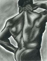 Male Nude - charcoal by petiteophelia