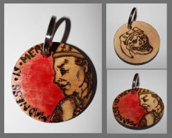 Cicero Madness is Merry Keyring by BumbleBeeFairy