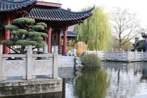 Chinese garden Stock 26 by Malleni-Stock