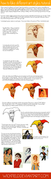 How to Fake Different Art Styles tutorial by Wickfield