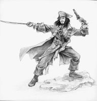 Captain Jack Sparrow by madnormigan