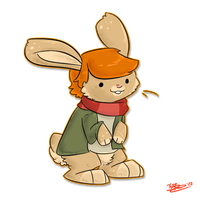 BunnifyPointCom:IT HAZ NO PANTS by BakaPup