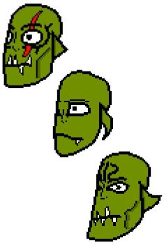 Orc heads by SketchingGames