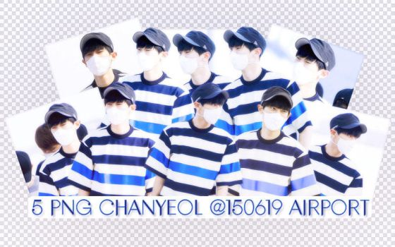 PACK PNG CHANYEOL @150619 AIRPORT by victorhwang
