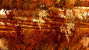 Copper Abstract by StarwaltDesign