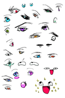 Tablet doodles 4 Eye practice by KumoriNinja08