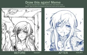 Draw this again! Meme - Farewell by Jinnimala