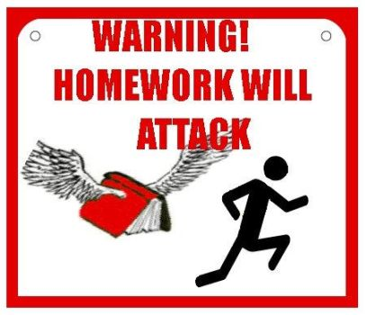 ATTACK OF THE HOMEWORK by WanderingRain