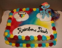 Rainbow Dash Cake by Foxbeast