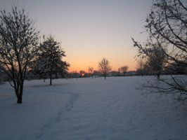 Snowscapes #1: Sunset in the Park by Guardian-of-Legends