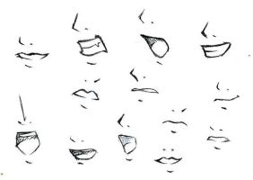 How to draw mouths? by tokatoka