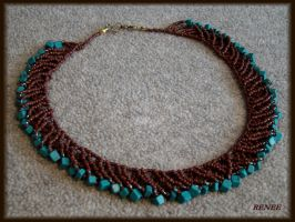 Brown collar with turquoise by jasmin7
