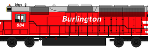 Burlington SD40 by AWVR8888