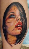 vampire girl by ODIETATTOO