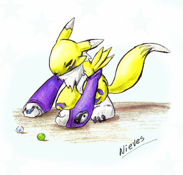 Renamon Canicas by Dark-Clefita