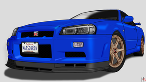 Nissan Skyline R34 by Matheus340