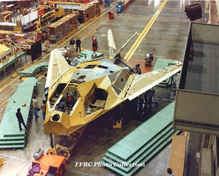 YF-117A 79-10780 during final assembly by fighterman35