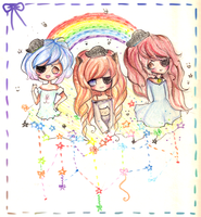 Rainbow smiles by mochatchi