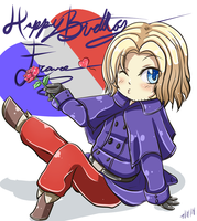 Chibi-France by Katiefrog217