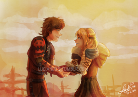 Hiccup and Astrid fixed by Luciand29