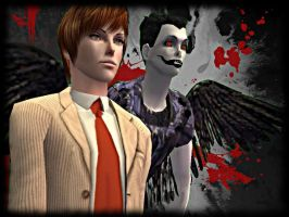 Light and Ryuk - The Sims 2 by CSItaly