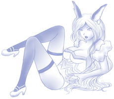 Bunny in Blue by MistressAilyia