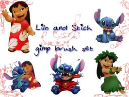 Lilo and Stitch brush set by Otakuvampire