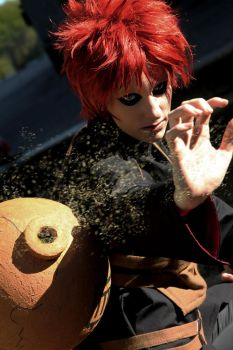Gaara - Comanding the sand by RomaiLee