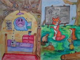 Lucy doesn't want to go to school by Goldie4224