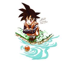DBZ Goten and 4 Star Ball by nicoyguevarra