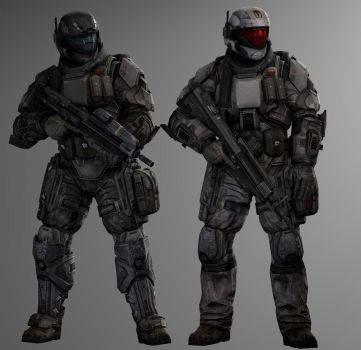 UNSC ODSTs by SuperNinjaNub