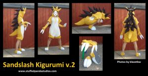 Sandslash kigurumi version 2 by stuffedpanda-cosplay