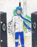 rolling boy kaito COLORED ver. by k1-brigade