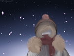 [4 A.M. drawing] - It's Cold by eevee2glaceon09