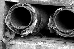 Pipework. Monochrome. by johnwaymont